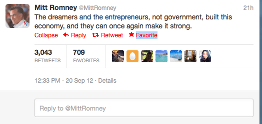 Romney is also a clever Tweeter and inspires thousands of retweets.