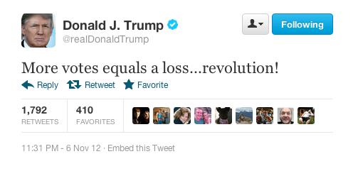 Donald Trumps PostObama Win Twitter Meltdown  Business Insider