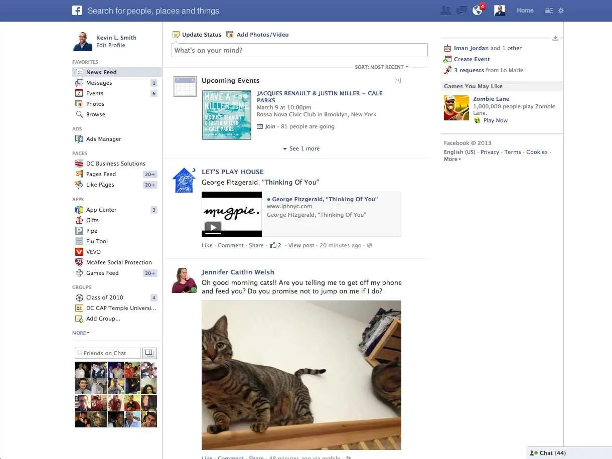 Image result for facebook feed