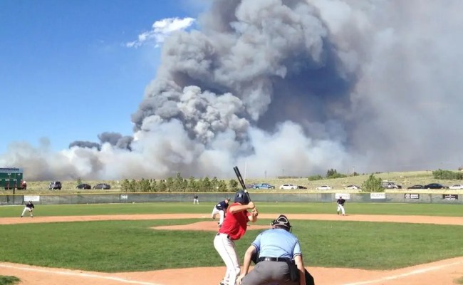 Colorado Wildfire Photo At Baseball Game Business Insider