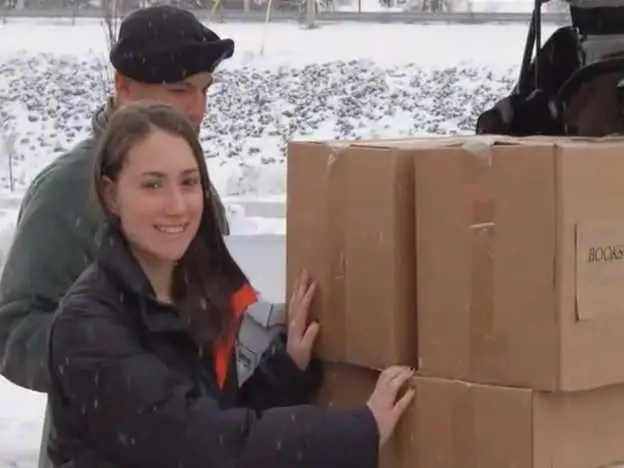 Jamie Stein collects, donates, and delivers books to U.S. troops stationed all around the world.