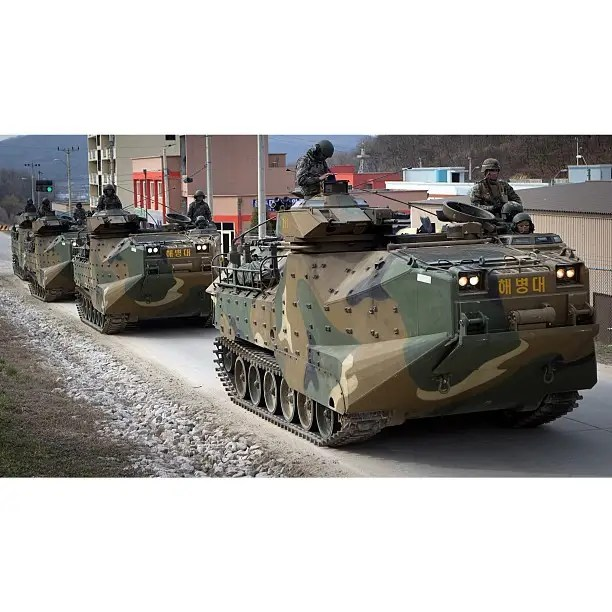 Amphibious assault vehicles that have been in service for decades.