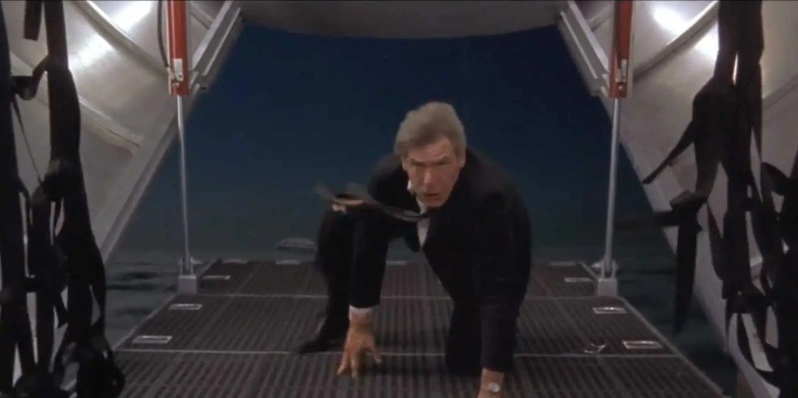 """Air Force One"" (1997): The president (Harrison Ford) gets taken hostage by Russian terrorists on his plane."