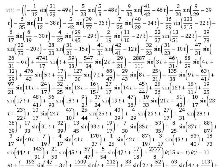 Wolfram Alpha math equation