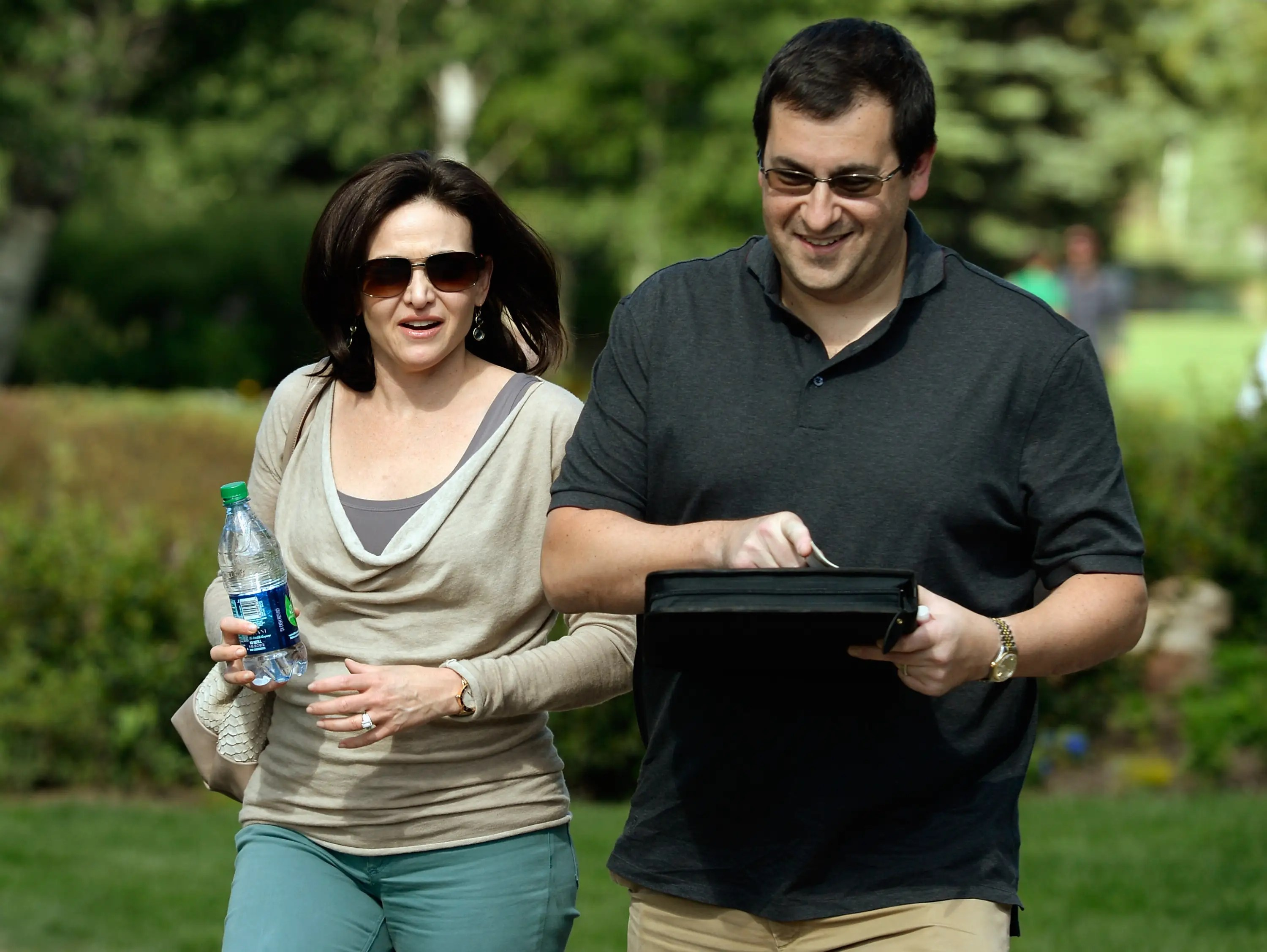 And here's Sandberg with her hubby, Dave Goldberg, CEO of SurveyMonkey.