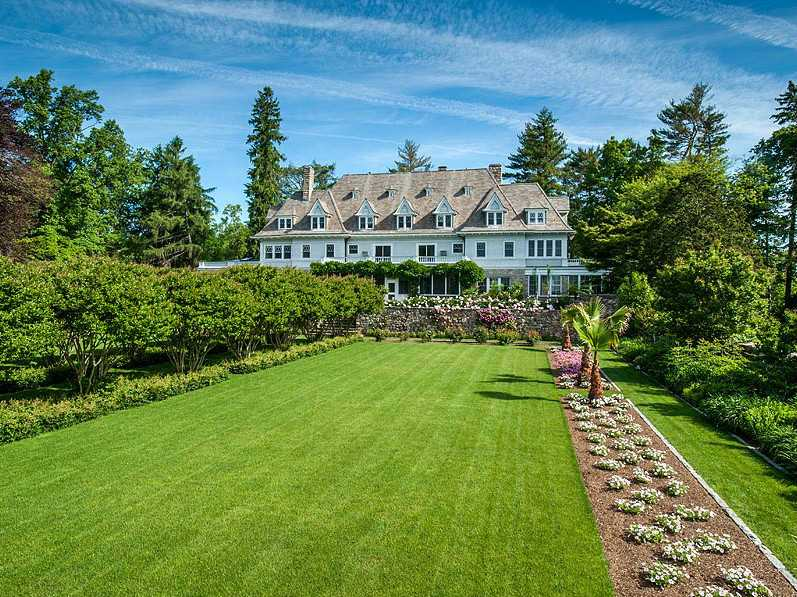 Timber magnate John Rudey's $130 million, 50-acre estate is known as Copper Beach Farm.