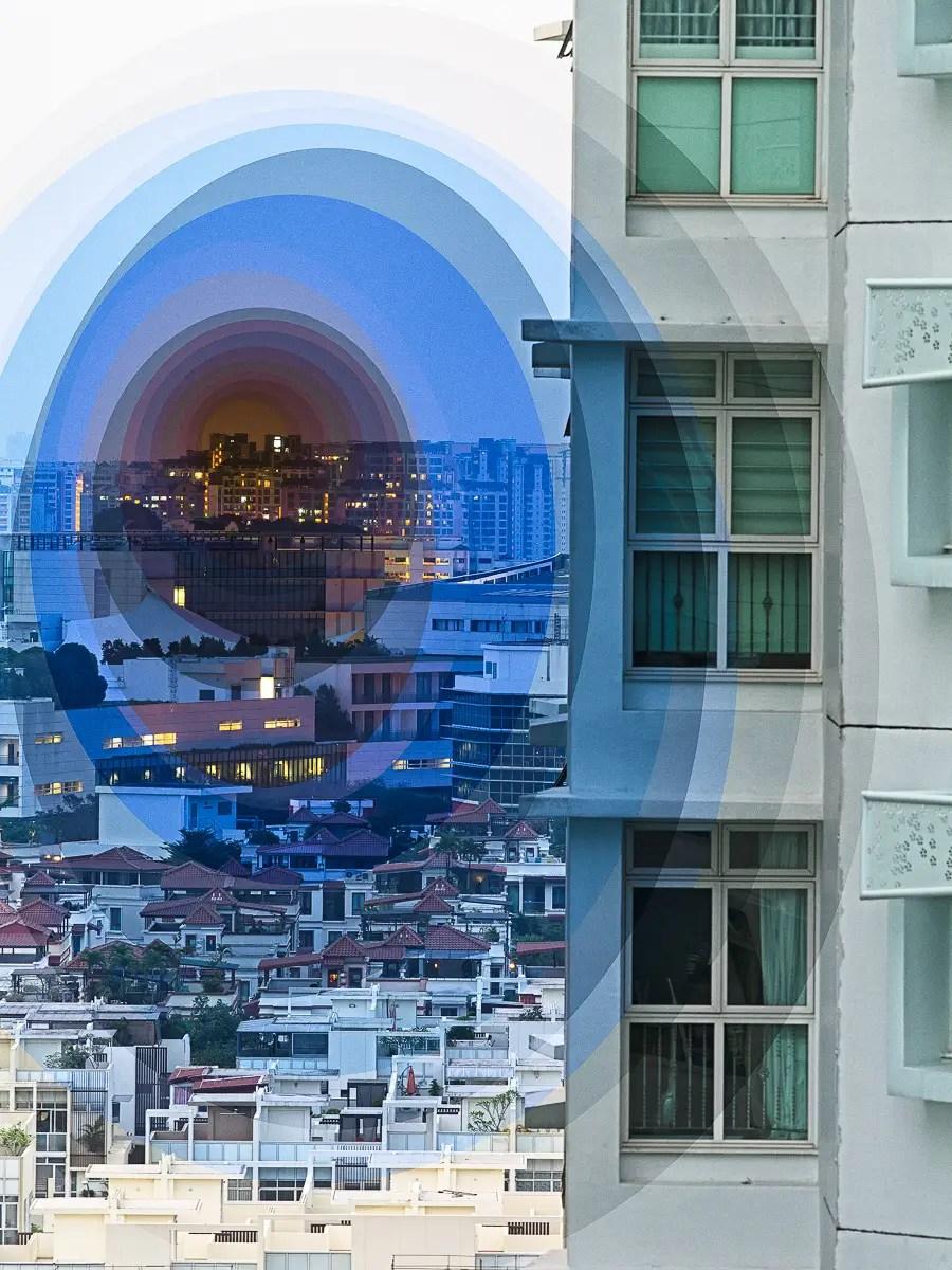 Night radiates from this image of Bukit Gombak, Singapore.