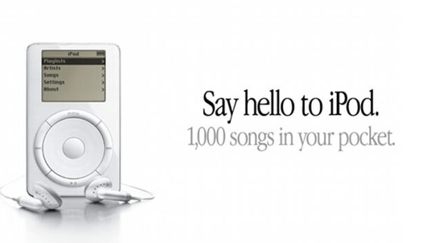 iPod first ad 2001