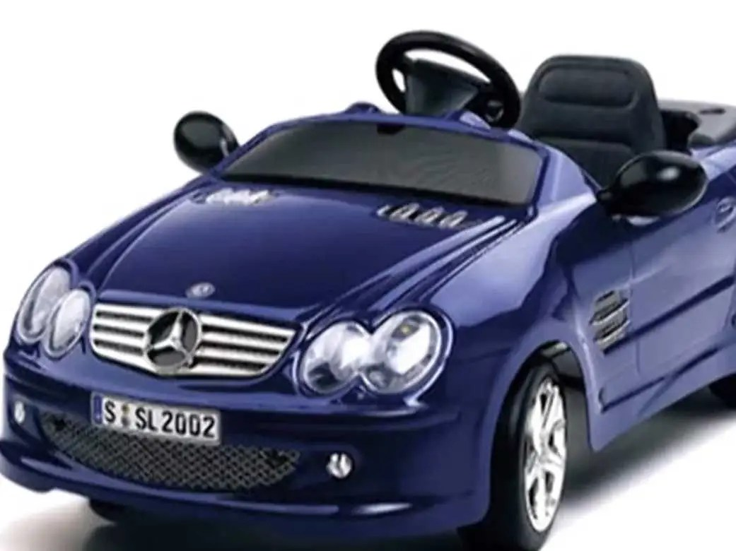 He paid $8,000 for a Mercedes-Benz electric toy car.