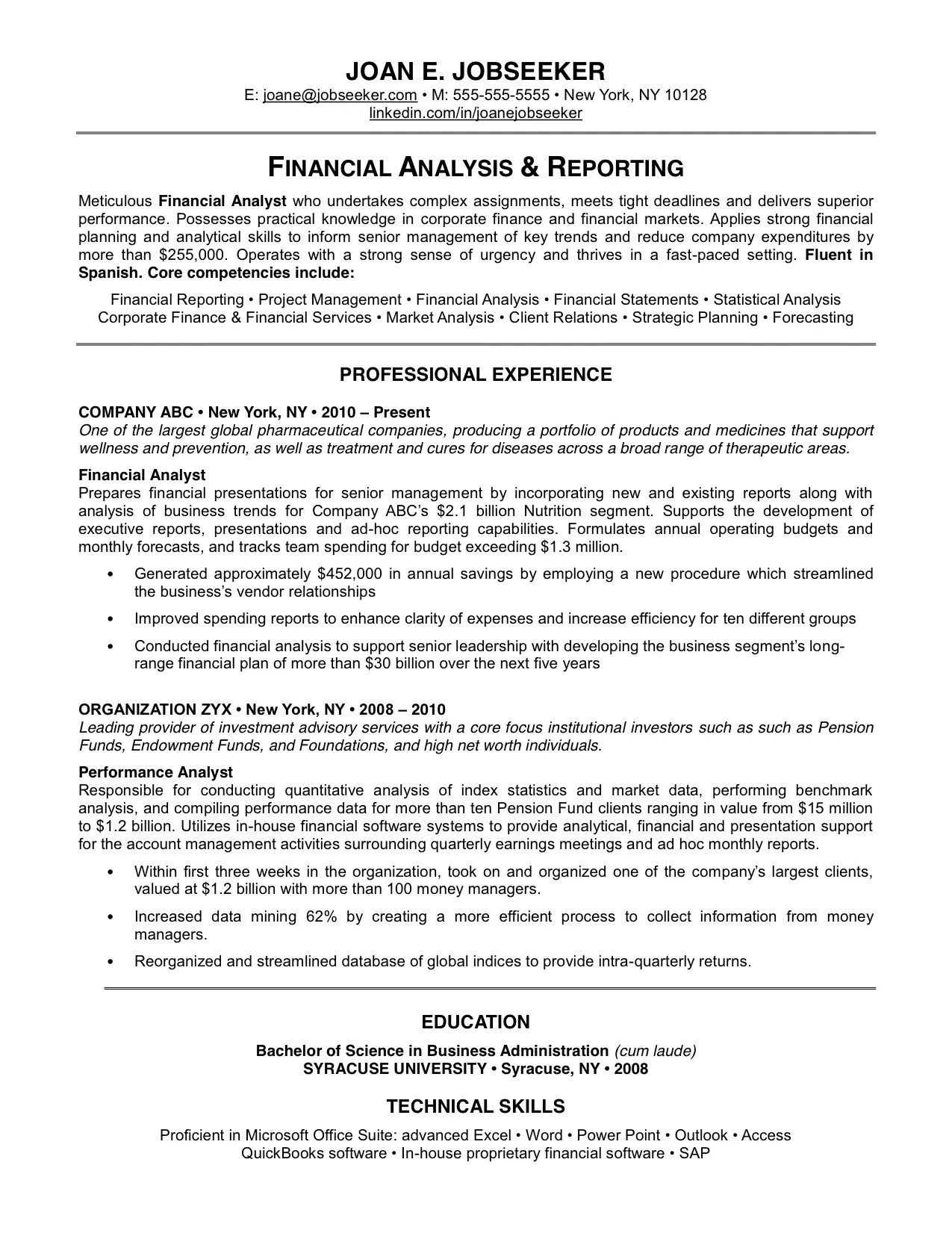Good Resume Examples Australia - Examples of Resumes