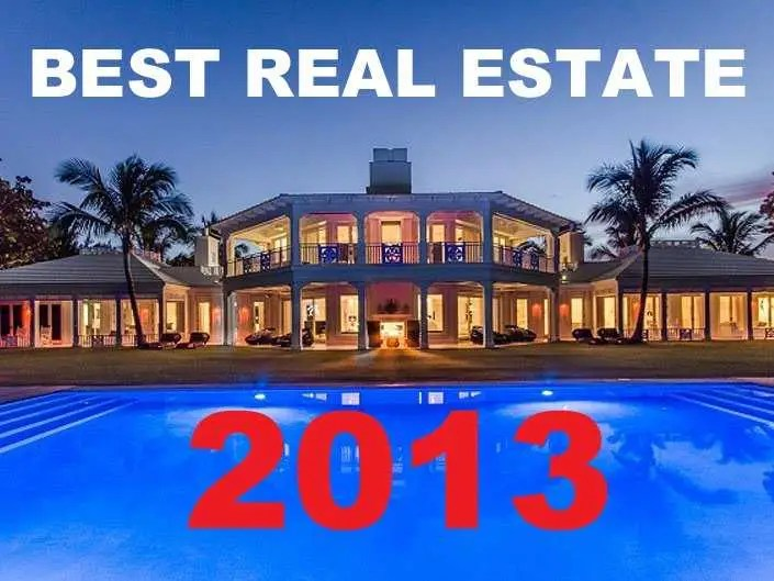 best real estate of 2013