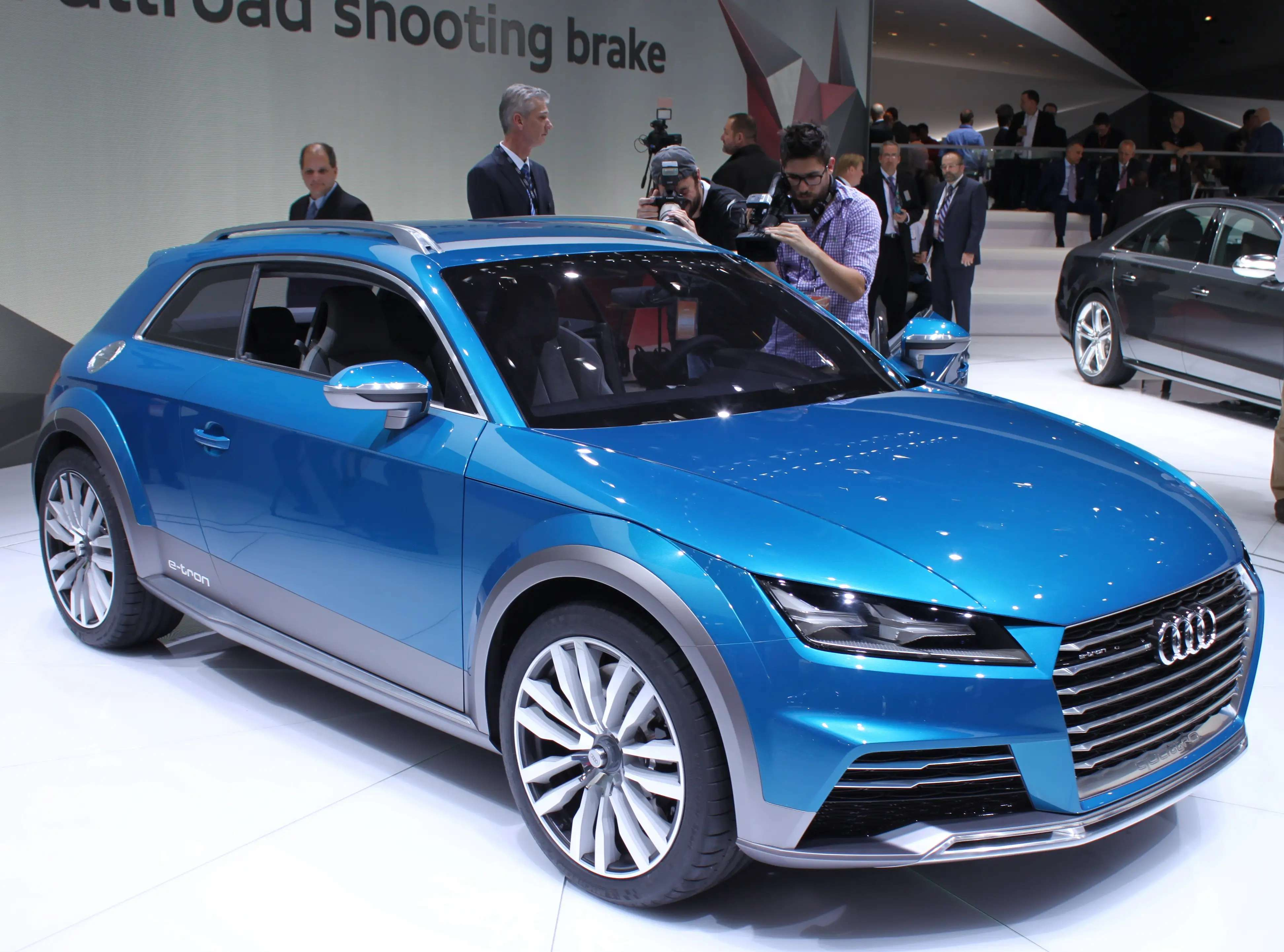 The electric Allroad Shooting Brake concept got Audi fans riled up when execs said it hints at the next-generation TT sports car.