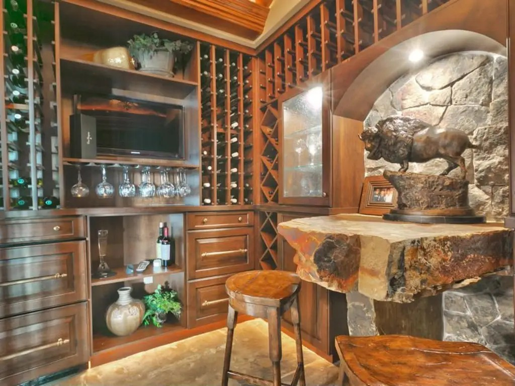 As well as its very own wine cellar.