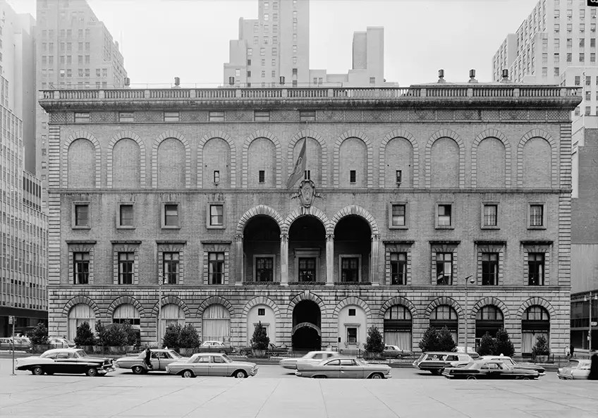 1965: New York's Racquet and Tennis Club on Park Avenue was surrounded by skyscrapers 50 years ago.
