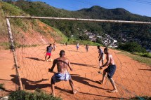 Kids Playing Soccer in Slums of Brazil