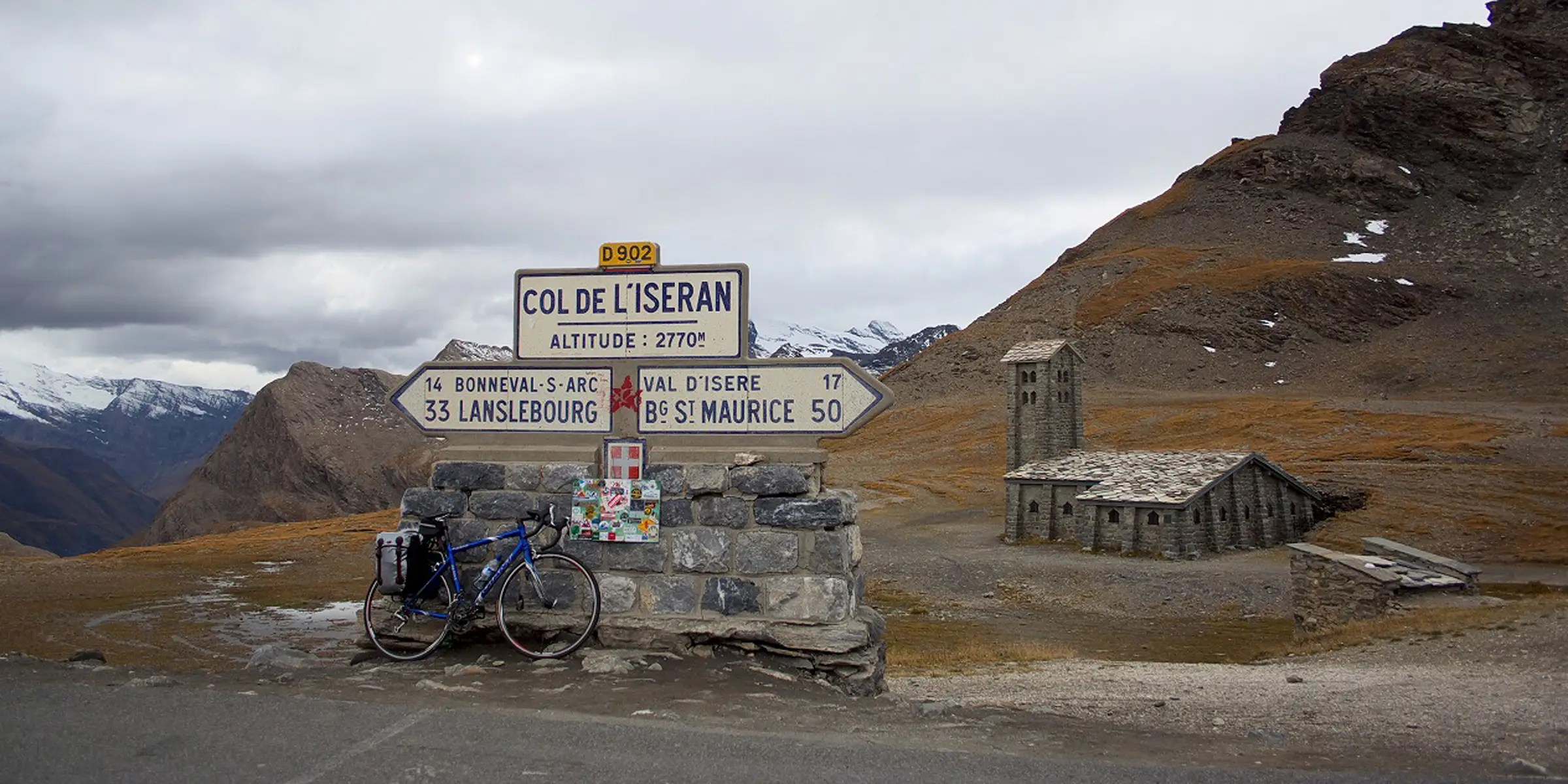 Col de l'Iseran in France is the highest paved road in the Alps. This scenic route is open only in the summer and has been used several times in the Tour de France.