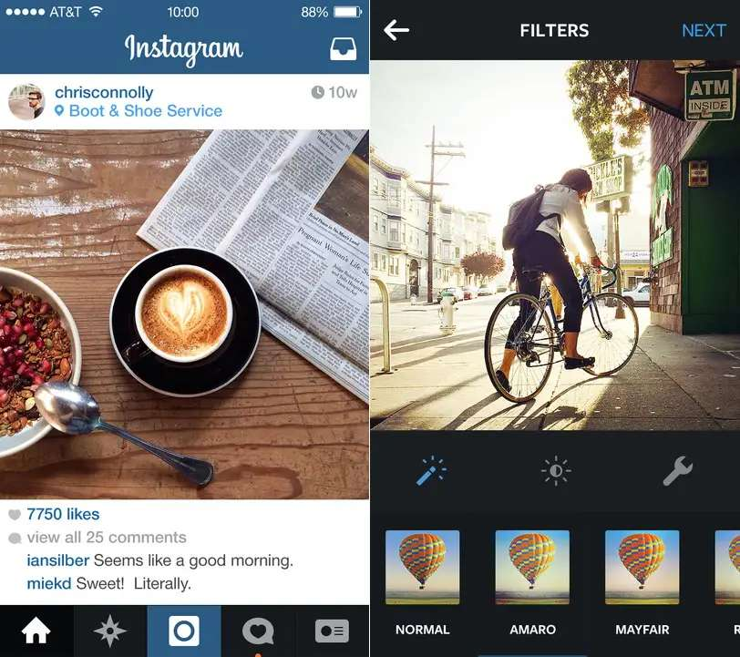 Instagram is the best photo-sharing app out there.