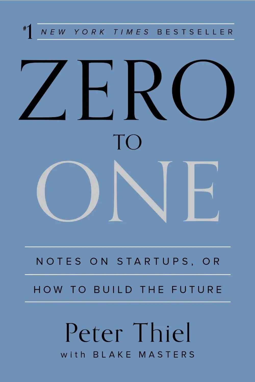 """Zero to One"" by Peter Thiel"