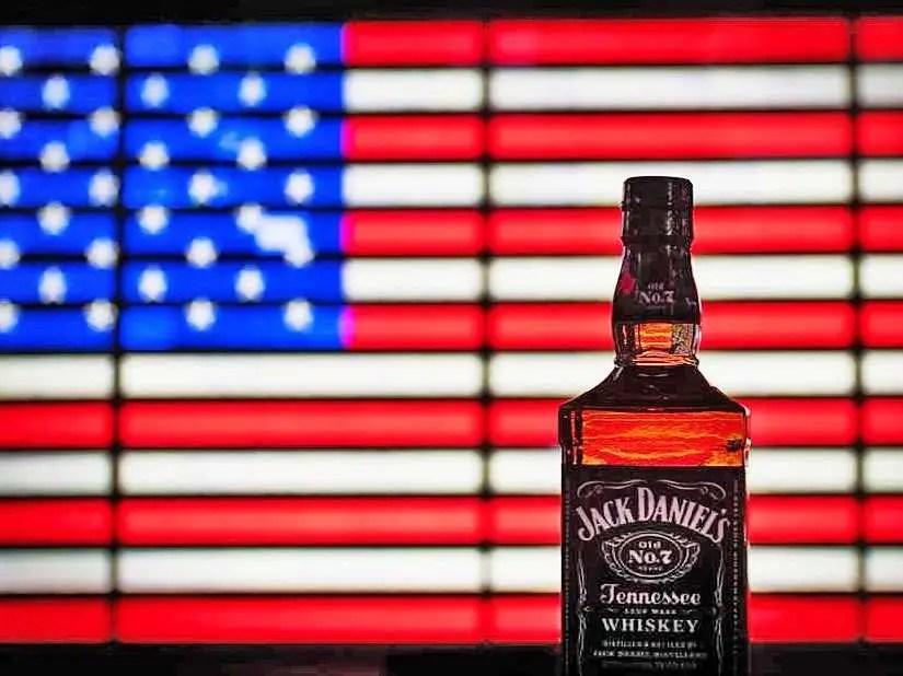 jack daniels american flag whiskey