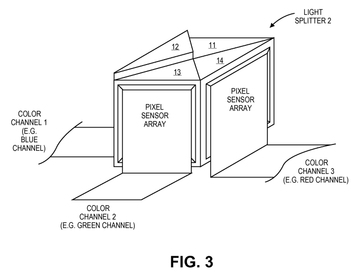 apple patent light splitter