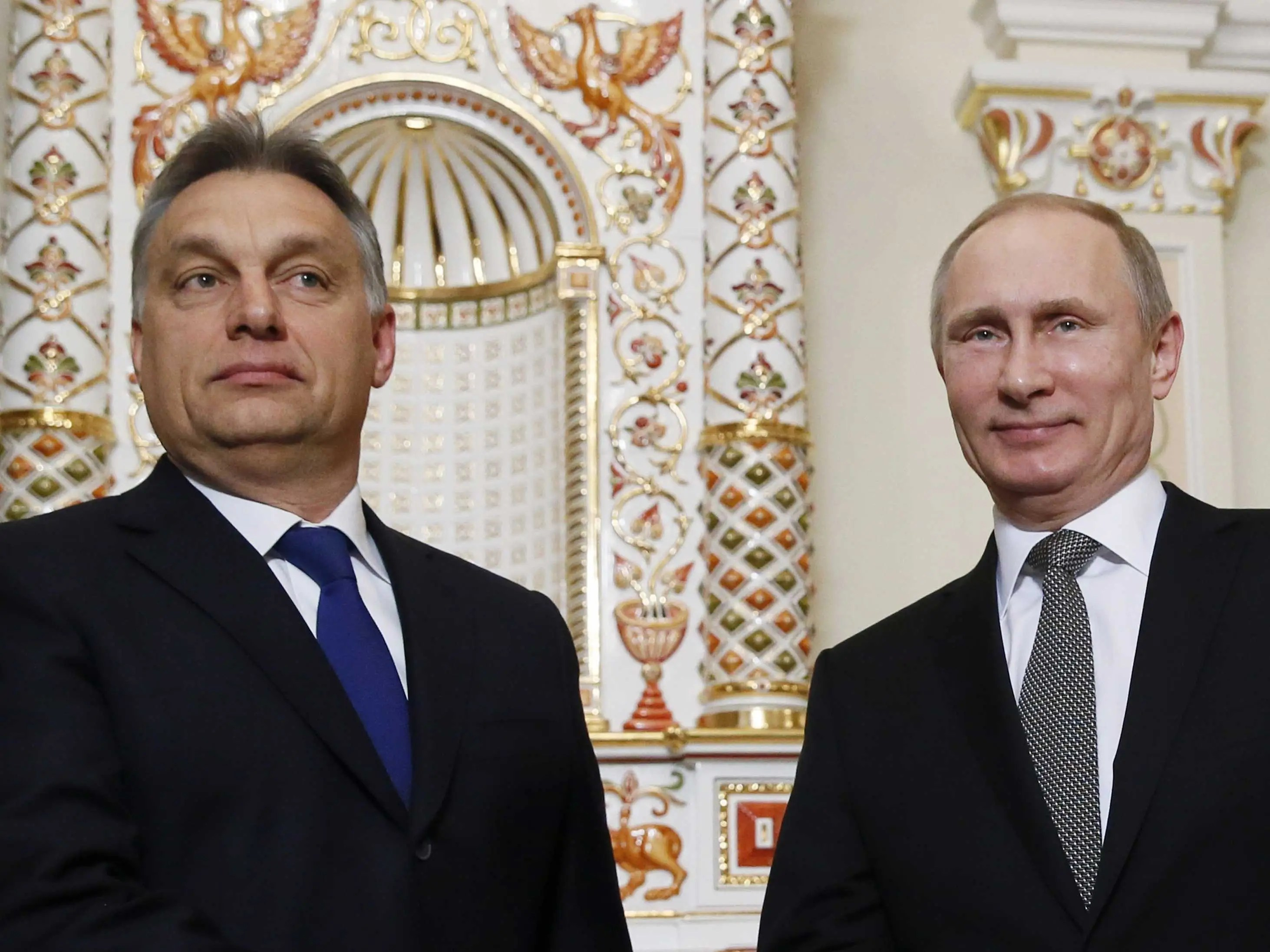 Vladimir Putin and Viktor Orban