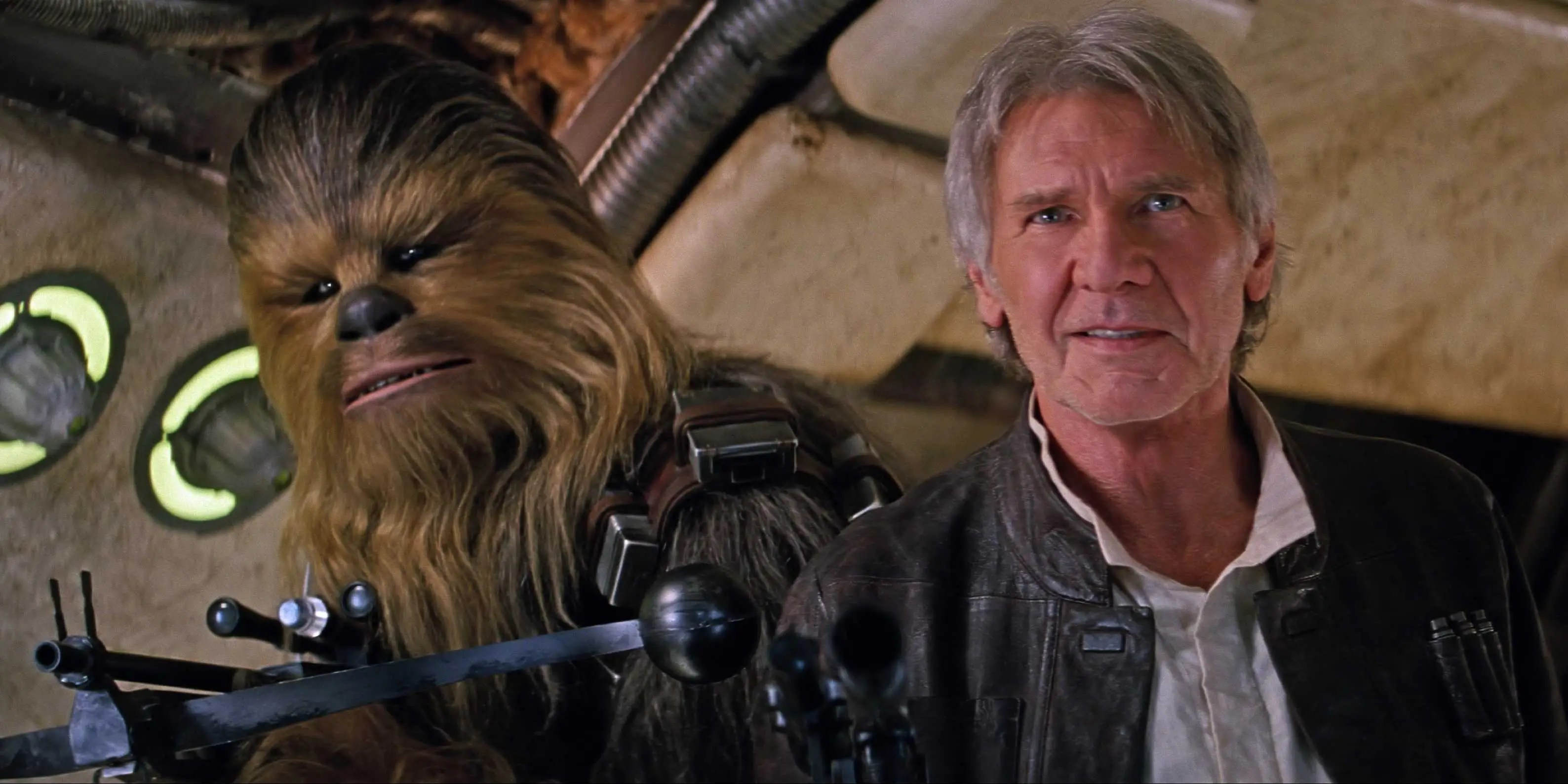 chewbacca harrison ford the force awakens