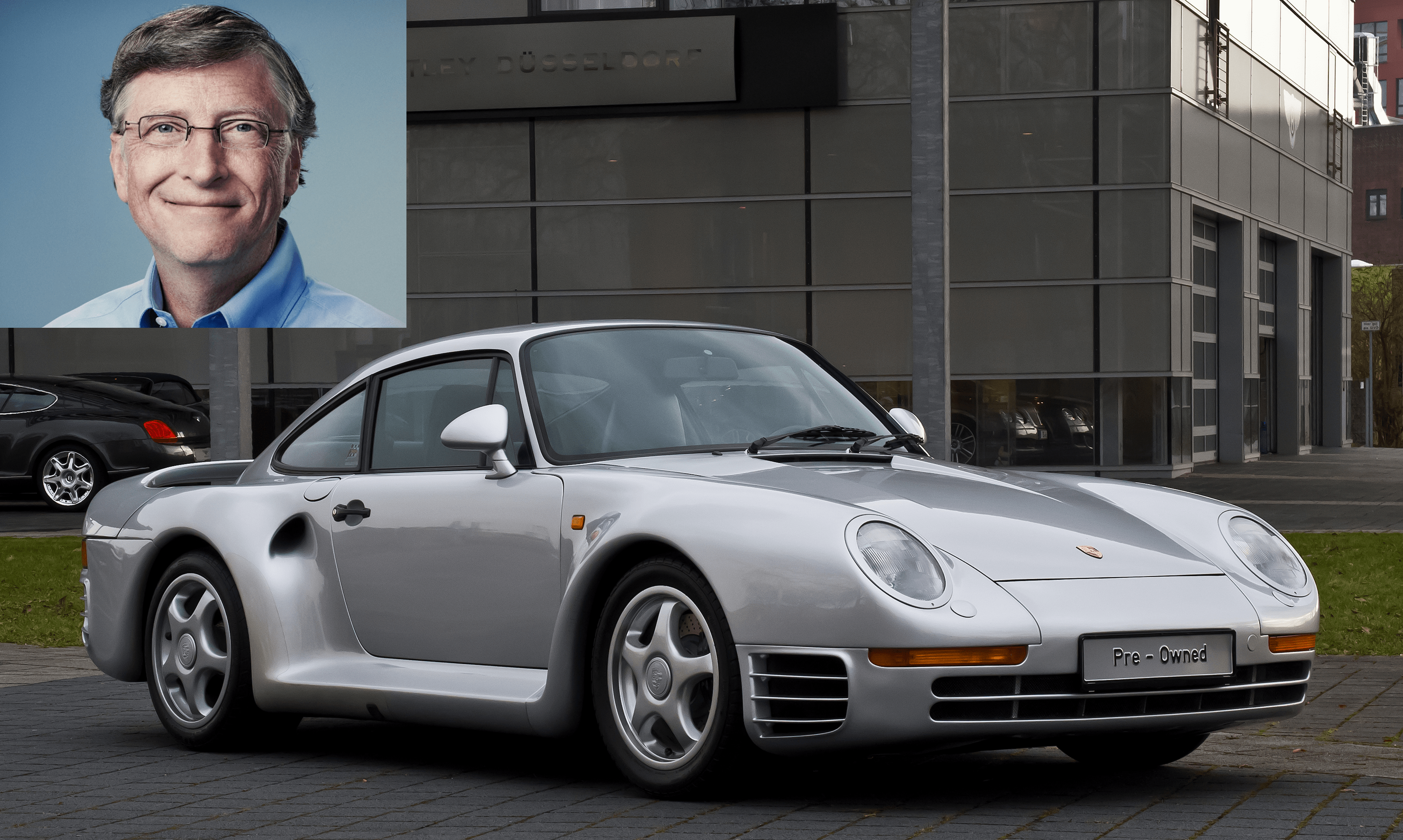 Speaking of cars, Gates has quite the Porsche collection. The headliner is his Porsche 959 sports car, which he bought 13 years before the car was approved by the US Environmental Protection Agency or US Department of Transportation.