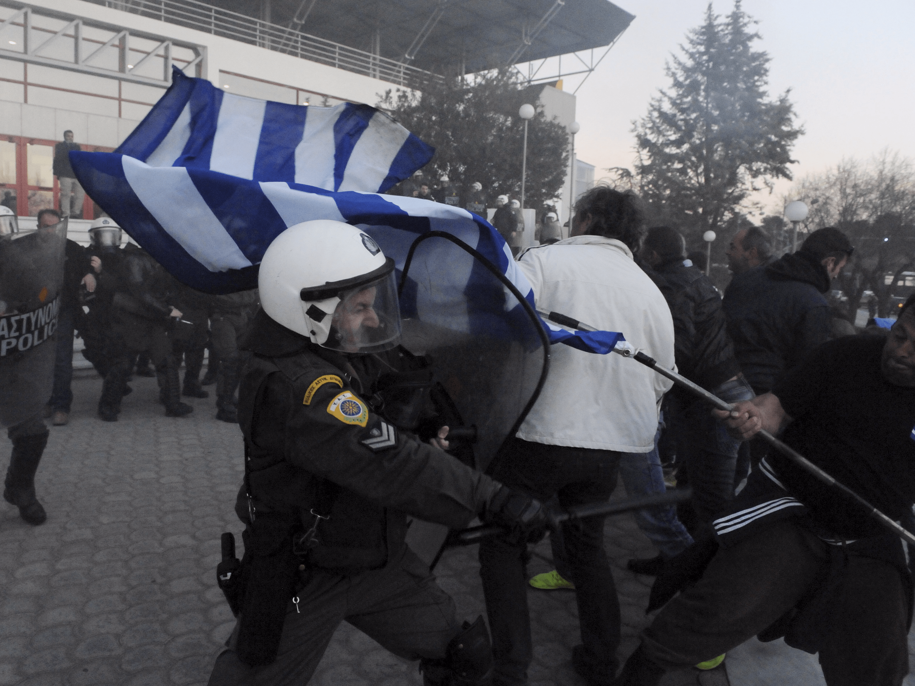 Greece riot protest