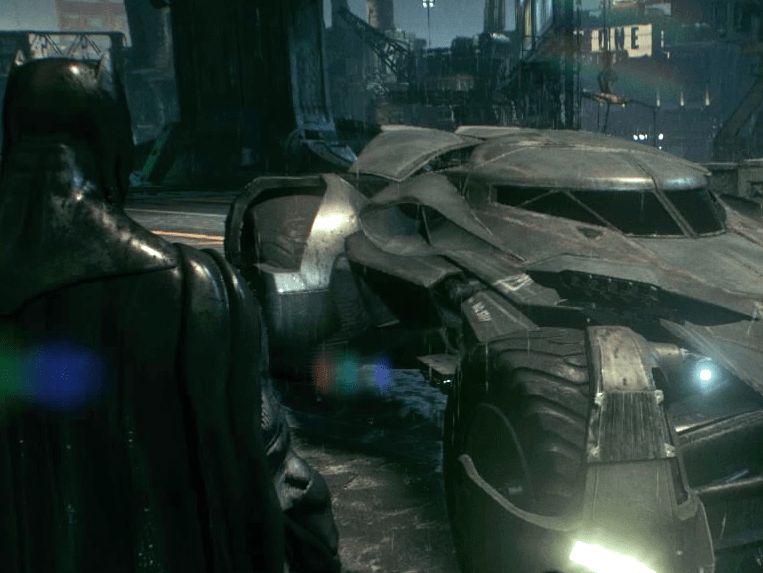 "In a first for the popular ""Arkham"" video-game series, players take control of the Batmobile in the quest against Scarecrow's fear toxin. Heavily inspired by Nolan's Batmobile, the game also featured un-lockable ""skins,"" which changed the vehicle's appearance to match other famous Batmobile iterations."