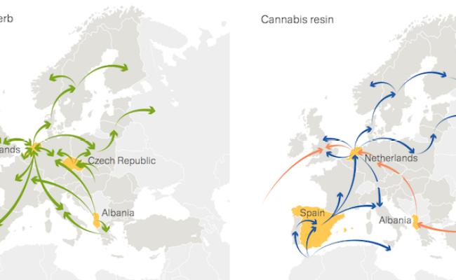 Emcdda Drug Trafficking Flow Maps Business Insider