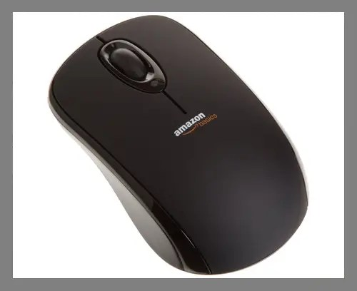 A wireless mouse