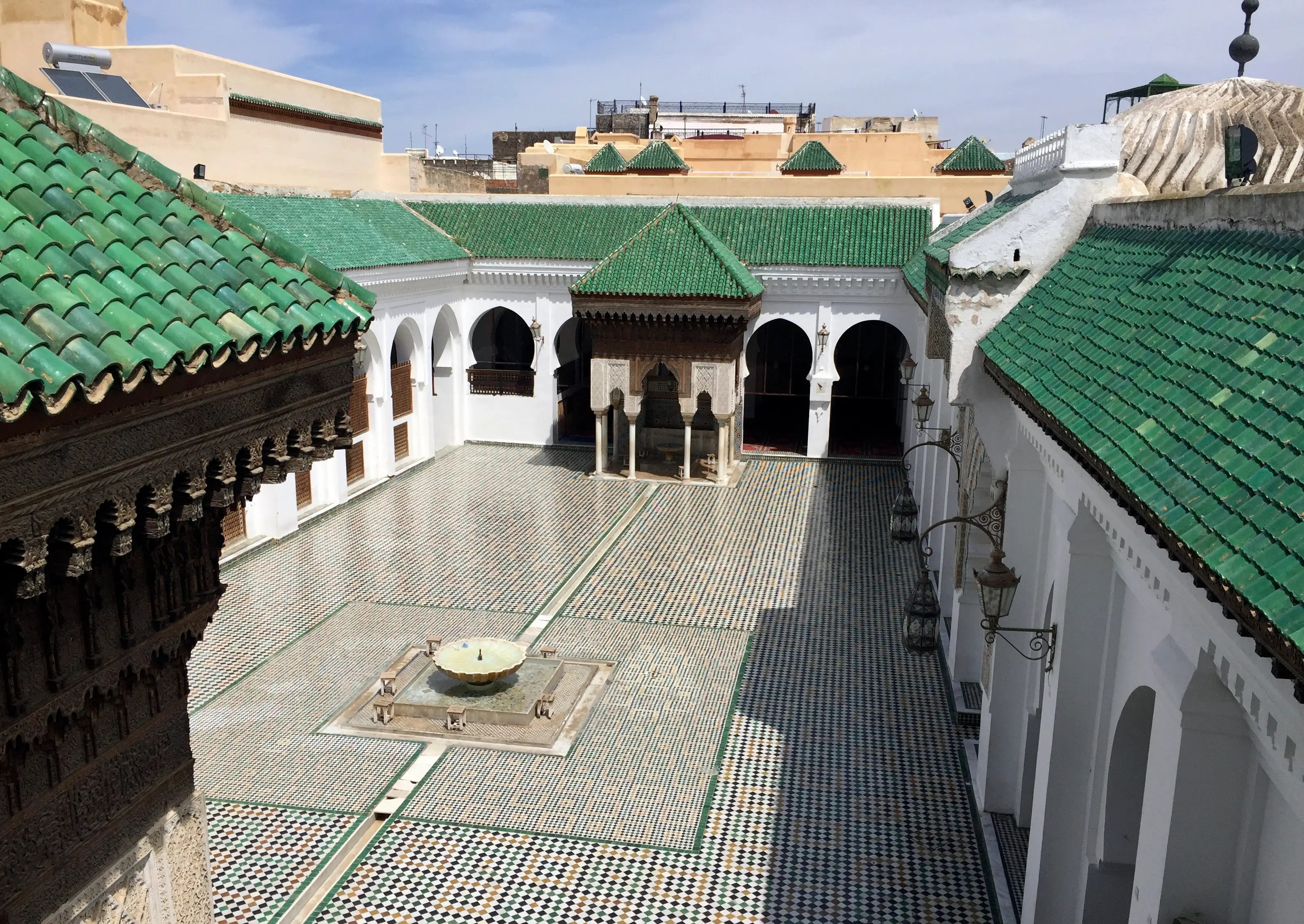 The al-Qarawiyyin university, library, and mosque were founded by Fatima El-Fihriya in 859 — around the time early forms of algebra were being invented.