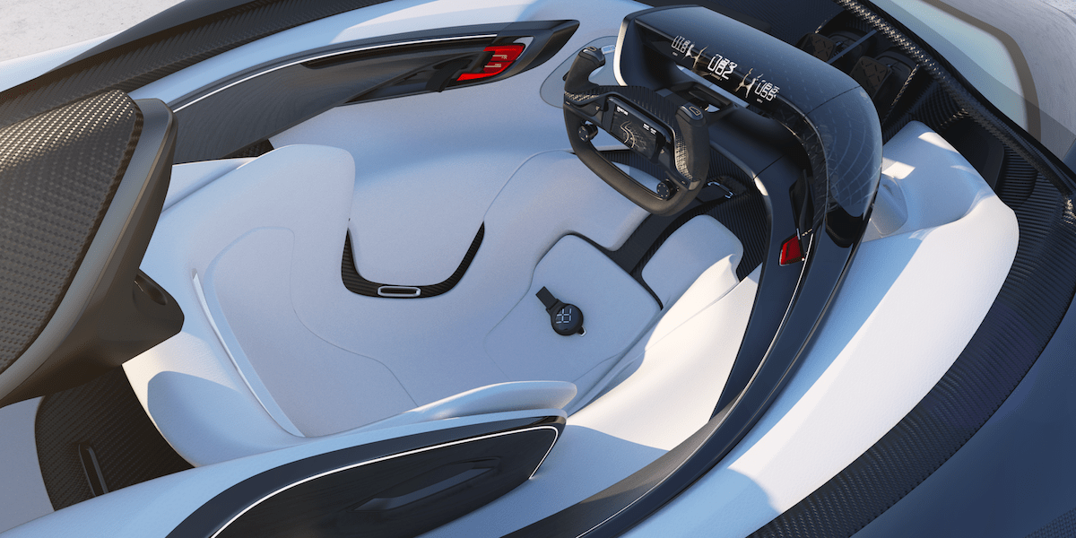 Four motors placed over each wheel give the car a top speed of 200 miles per hour. It's also capable of learning the driver's preferences and automatically adjusting the internal settings.