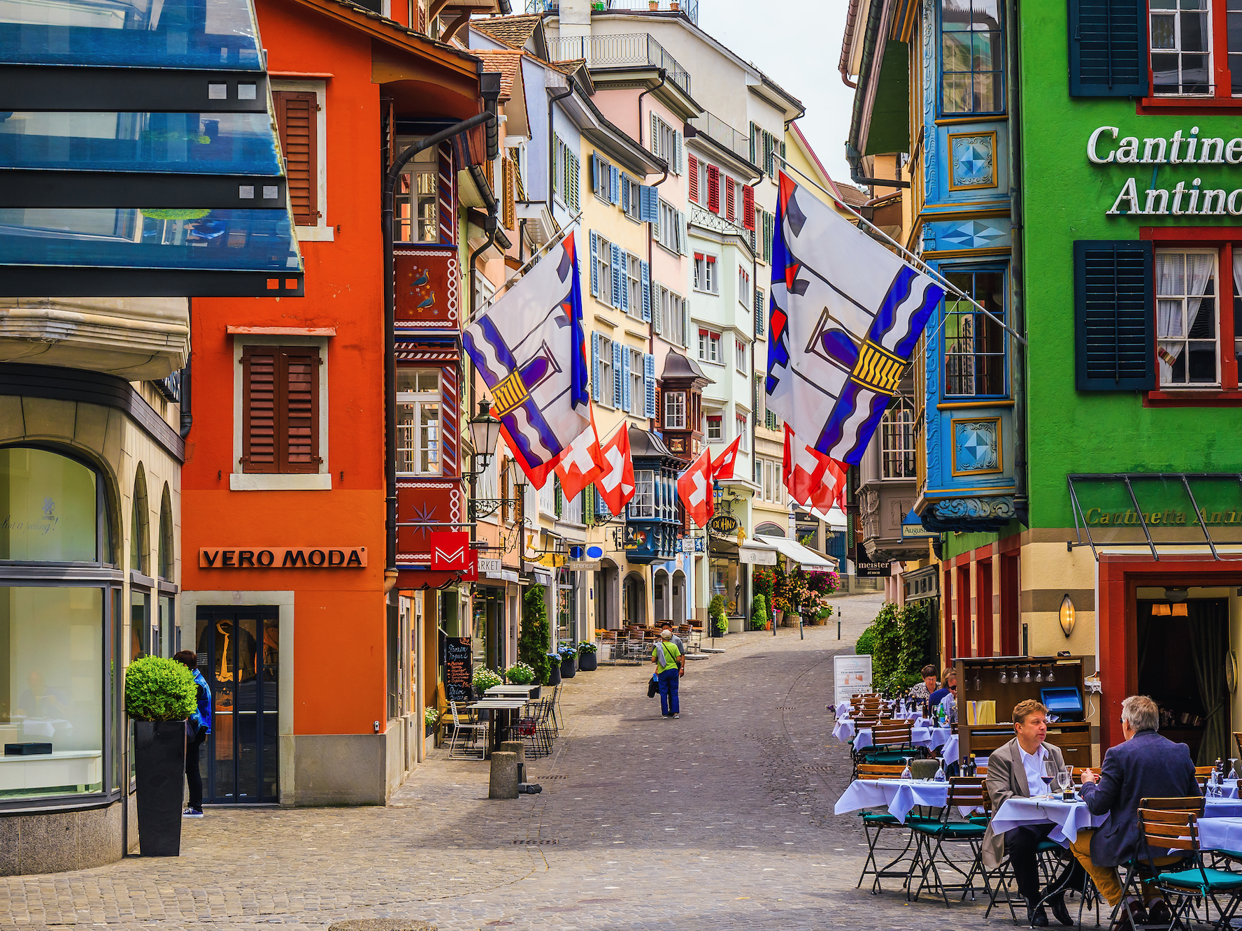Zurich is a more modern city. It's small but impeccably clean, well-preserved, and safe.