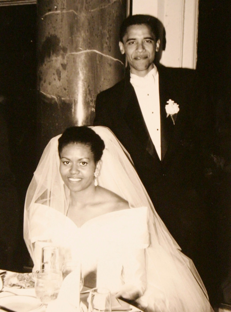 Barack and Michelle Obama were married on October 3, 1992. Michelle worked as a Chicago city government as an assistant to the mayor while Barack taught  constitutional law at the University of Chicago Law School.