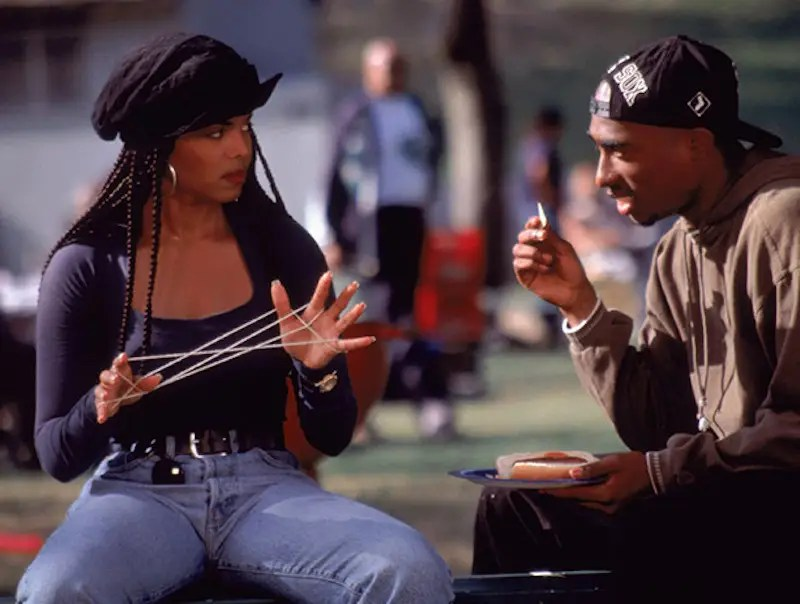 """Later that year, Shakur starred opposite Janet Jackson in the hit romantic drama """"Poetic Justice."""""""