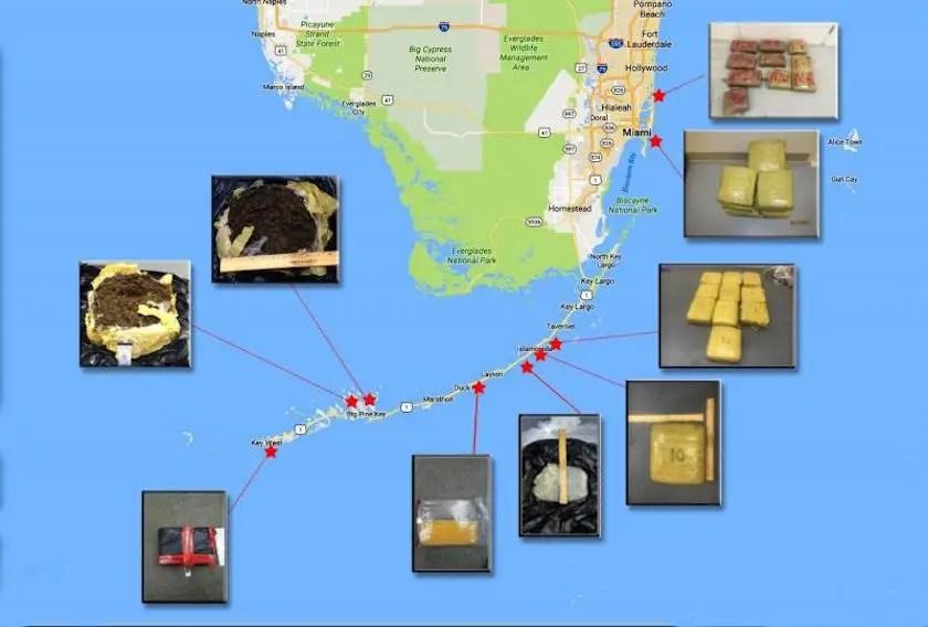 US Customs and Border Patrol Coast Guard drugs off Florida coast