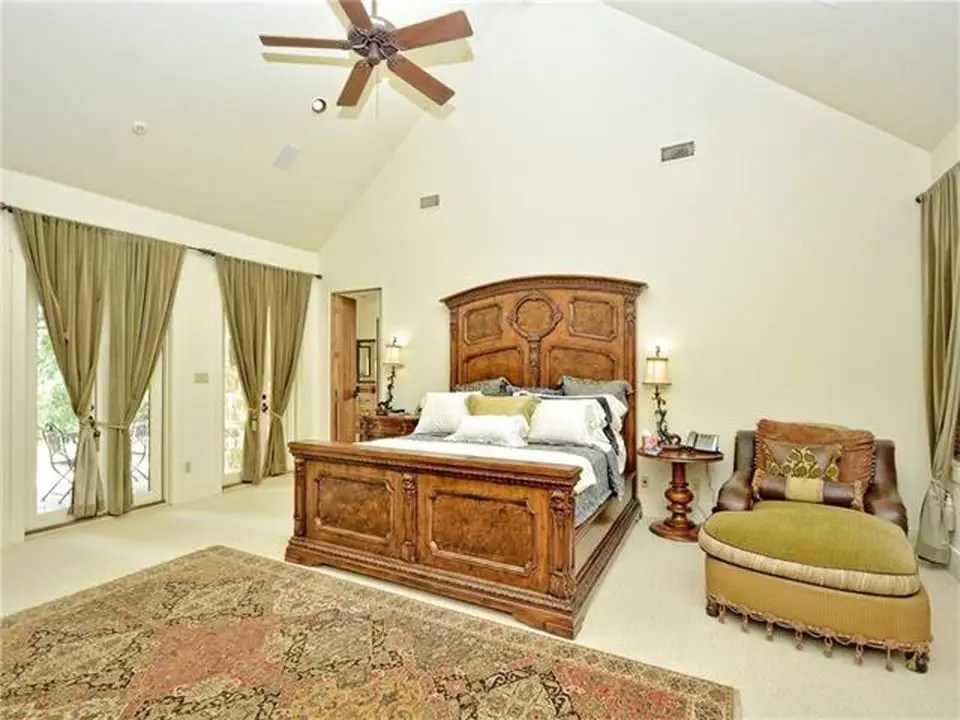 Here's a look at one of the home's four bedrooms.
