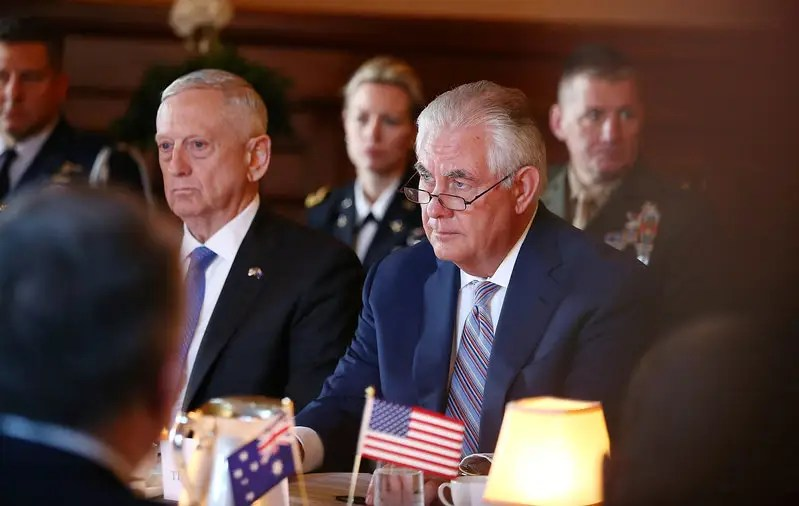 Image result for photos of mattis and tillerson