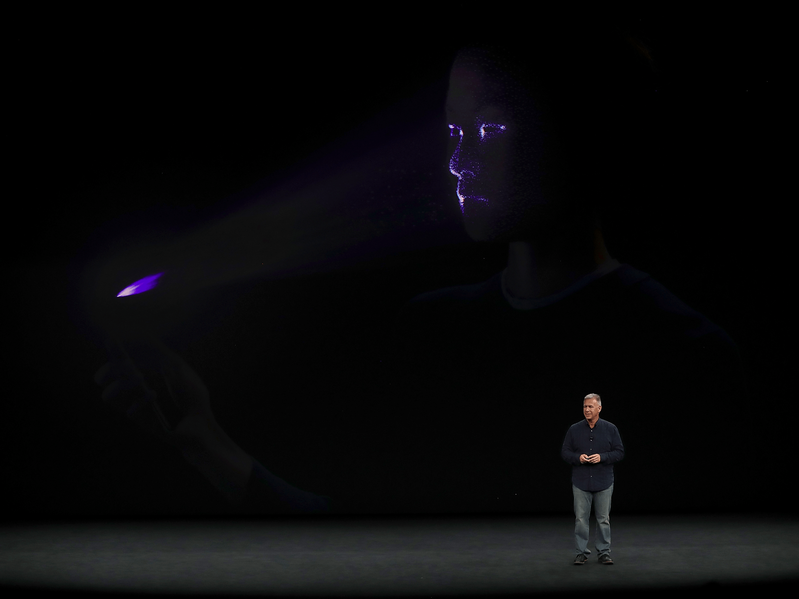There's a new system to unlock your iPhone X called FaceID.