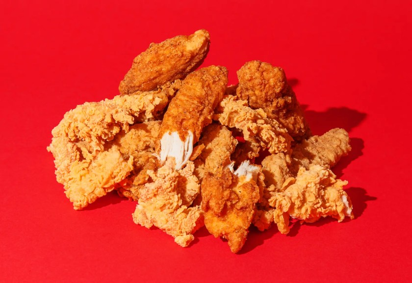 We have six chains duking it out: Chick-fil-A, Dairy Queen, KFC, McDonald's, Popeyes,  and Wendy's.