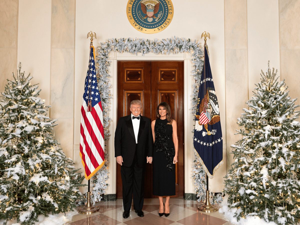 Image result for photos of trump christmas at the white house