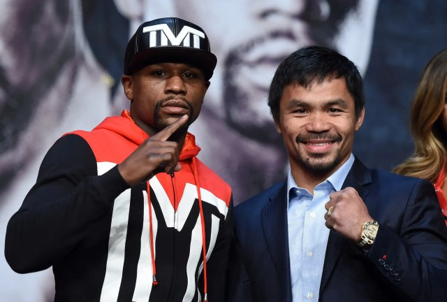 Floyd Mayweather and Manny Pacquiao fight
