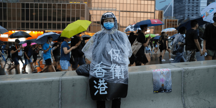 hong kong protestor protests