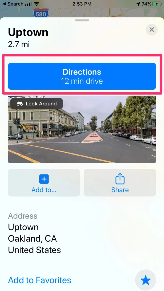 How to share ETA in Apple Maps iPhone