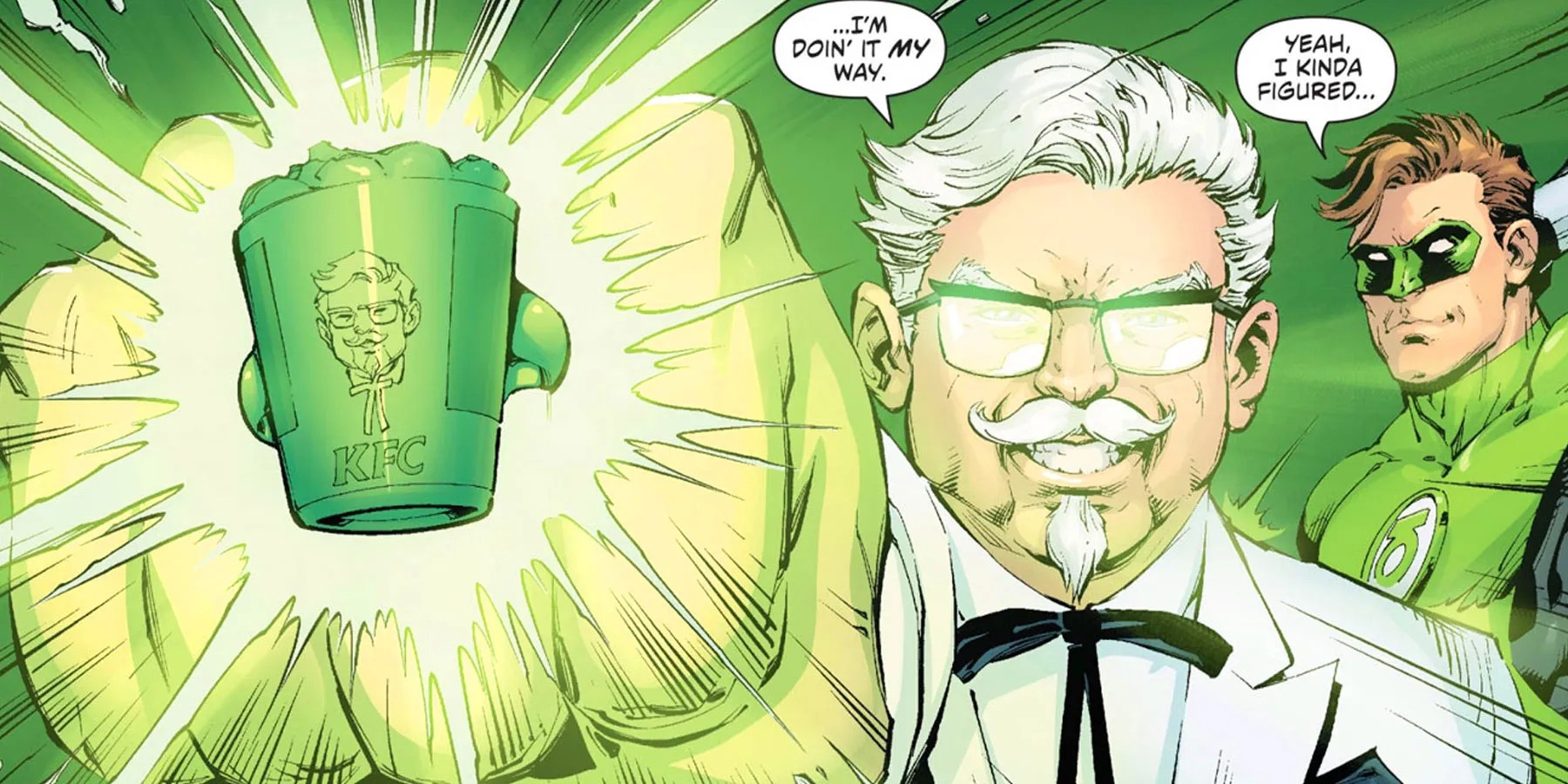 Col. Sanders Teams with Green Lantern in KFC Comic | CBR