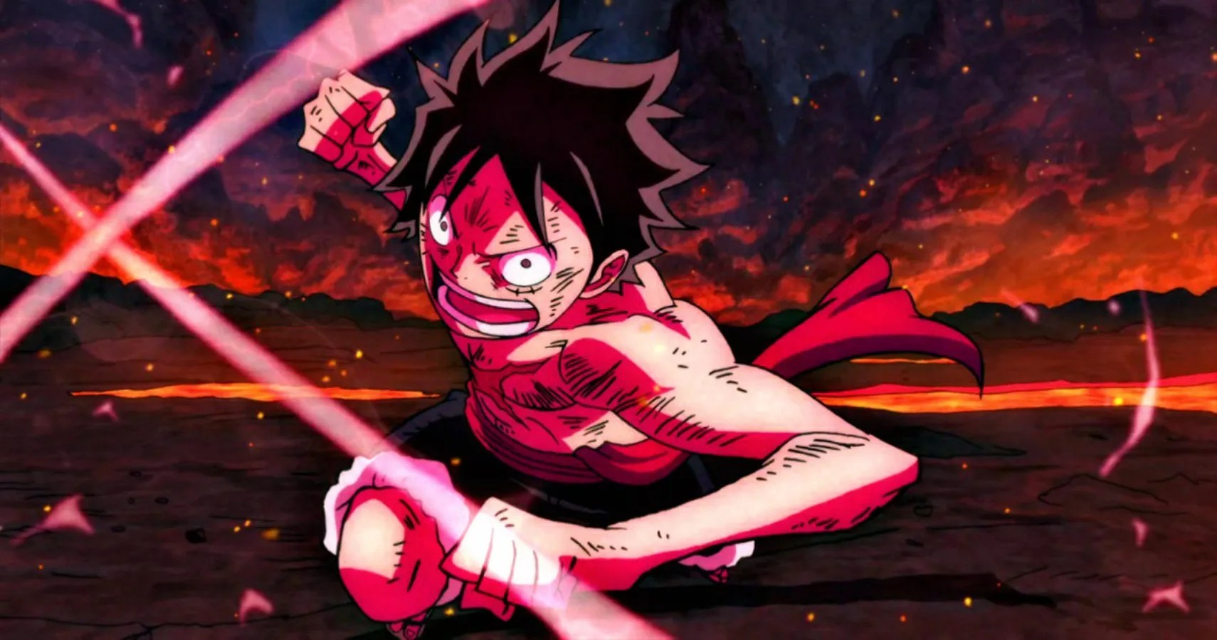 Shanks used observation haki to find luffy and saw that he had just rescued ace from the scaffold. Marineford Luffy Haki