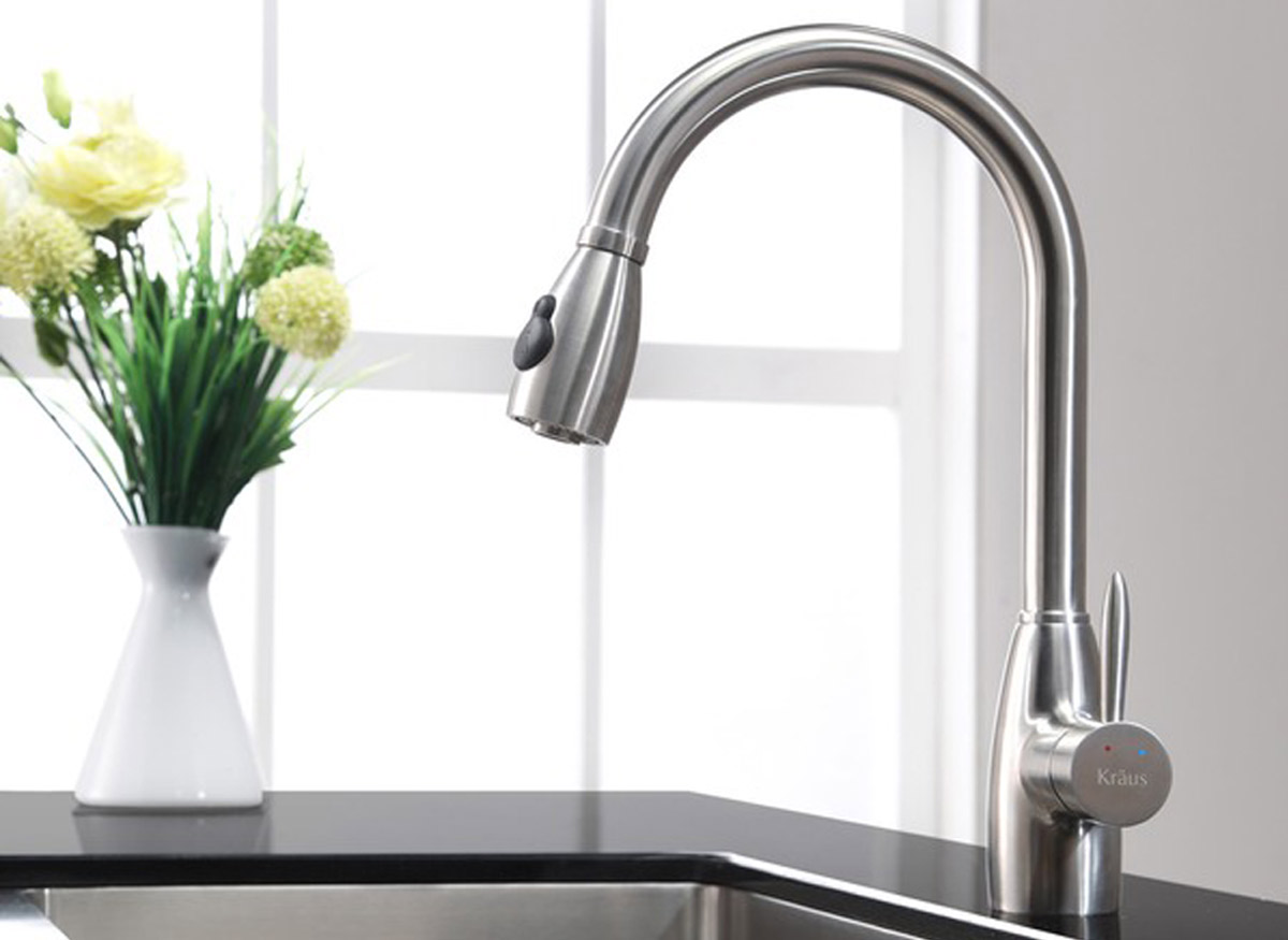 spray head kitchen faucet natural maple cabinets photos best buying guide consumer reports