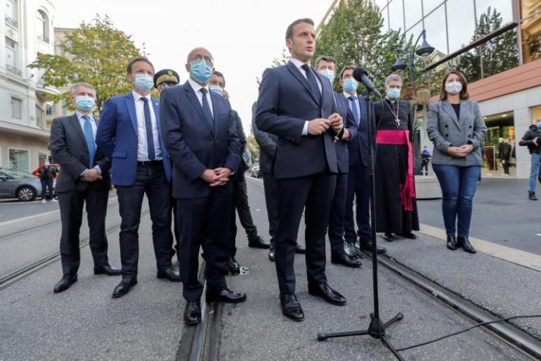 Macron, in Nice
