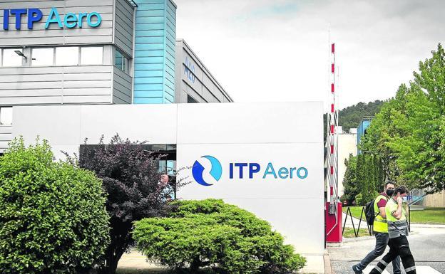 Image of the ITP Aero facilities in the Bizkaia Technology Park.